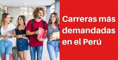 Carreras más demandadas en el Perú