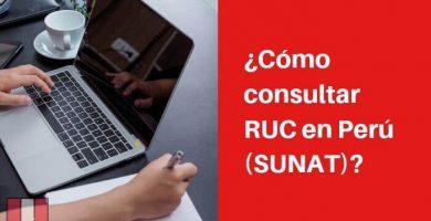 consultar RUC en Perú