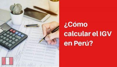 calcular igv