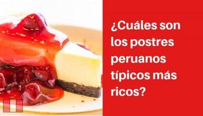 postres peruanos tipicos