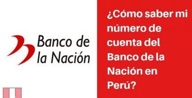 como saber numero de cuenta banco nacion peru
