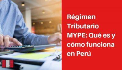 regimen tributario mype