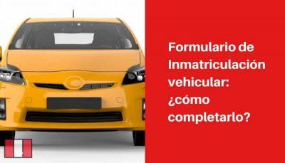 formulario de inmatriculacion vehicular