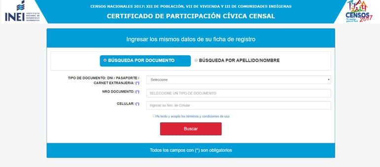 certificado de participacion civica censal
