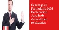 Descarga el Formulario 1495 Declaración Jurada de Actividades Realizadas