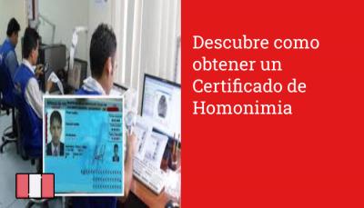 Descubre como obtener un Certificado de Homonimia
