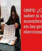 ONPE: ¿Cómo saber si soy miembro de Mesa en las próximas elecciones?