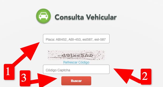 consulta vehicular por placa en SUNARP
