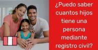 ¿Puedo saber cuántos hijos tiene una persona en Perú mediante el registro civil?