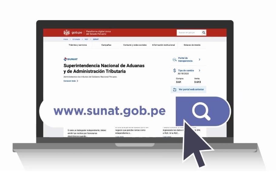 Portal oficial SUNAT