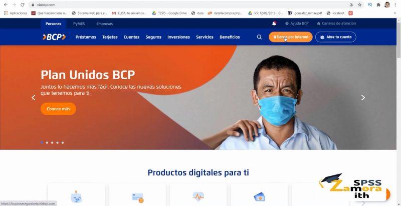 Accede al sitio web de BCP para saber si te depositaron
